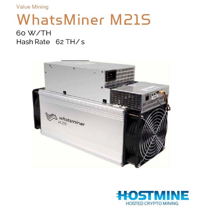 WhatsMiner M21S 62TH/s | HOSTMINE