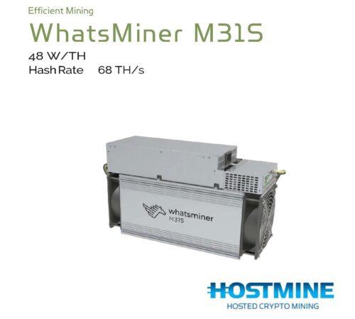 WhatsMiner M31S 68TH/s | HOSTMINE
