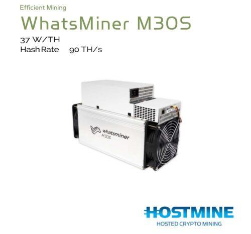 WhatsMiner M30S 90TH/s | HOSTMINE