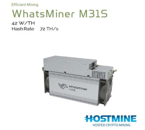 WhatsMiner M31S 72TH/s | HOSTMINE