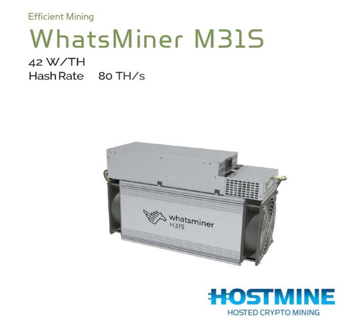 WhatsMiner M31S 80TH/s | HOSTMINE