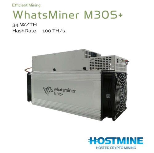 WhatsMiner M30S+ 100TH/s | HOSTMINE