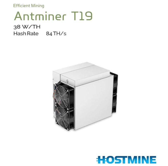 AntMiner T19 84TH/s | HOSTMINE