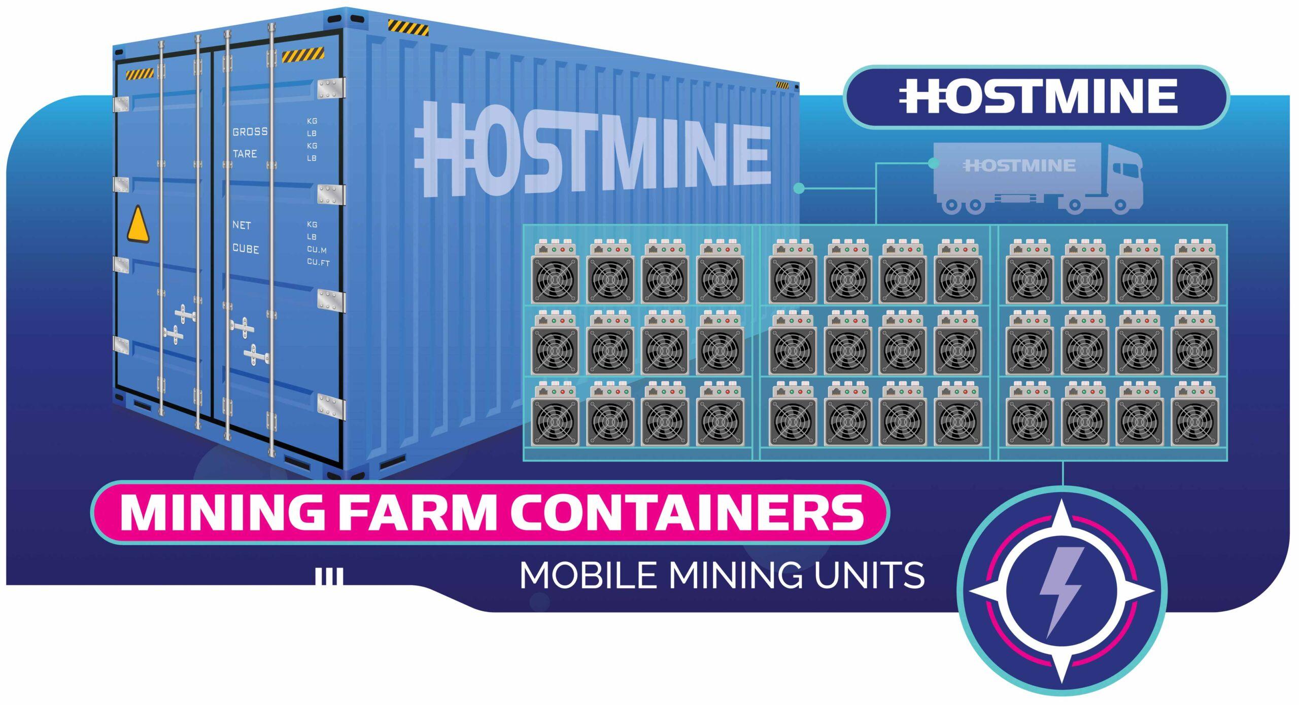 Mining Farm Containers   Crypto Mining   Hostmine