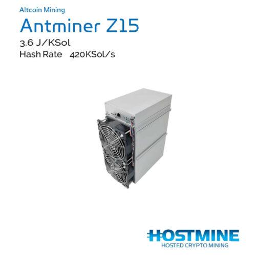 Antminer Z15 420 LSol/s | Hostmine