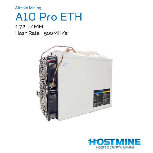 Altcoin Mining | A10 Pro ETH 500MH/s | Hostmine