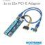 1x to 16x PCI-E Riser Adapter (6-pin to SATA) 1